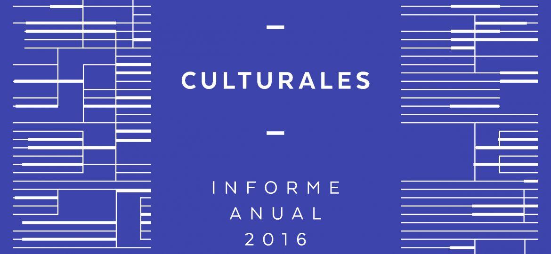 Estadisticas Culturales. Informe Anual 2016
